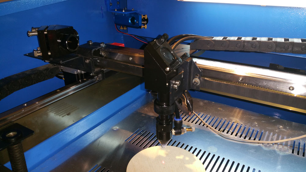 How to add beam combiner to SH-G350 laser cutter