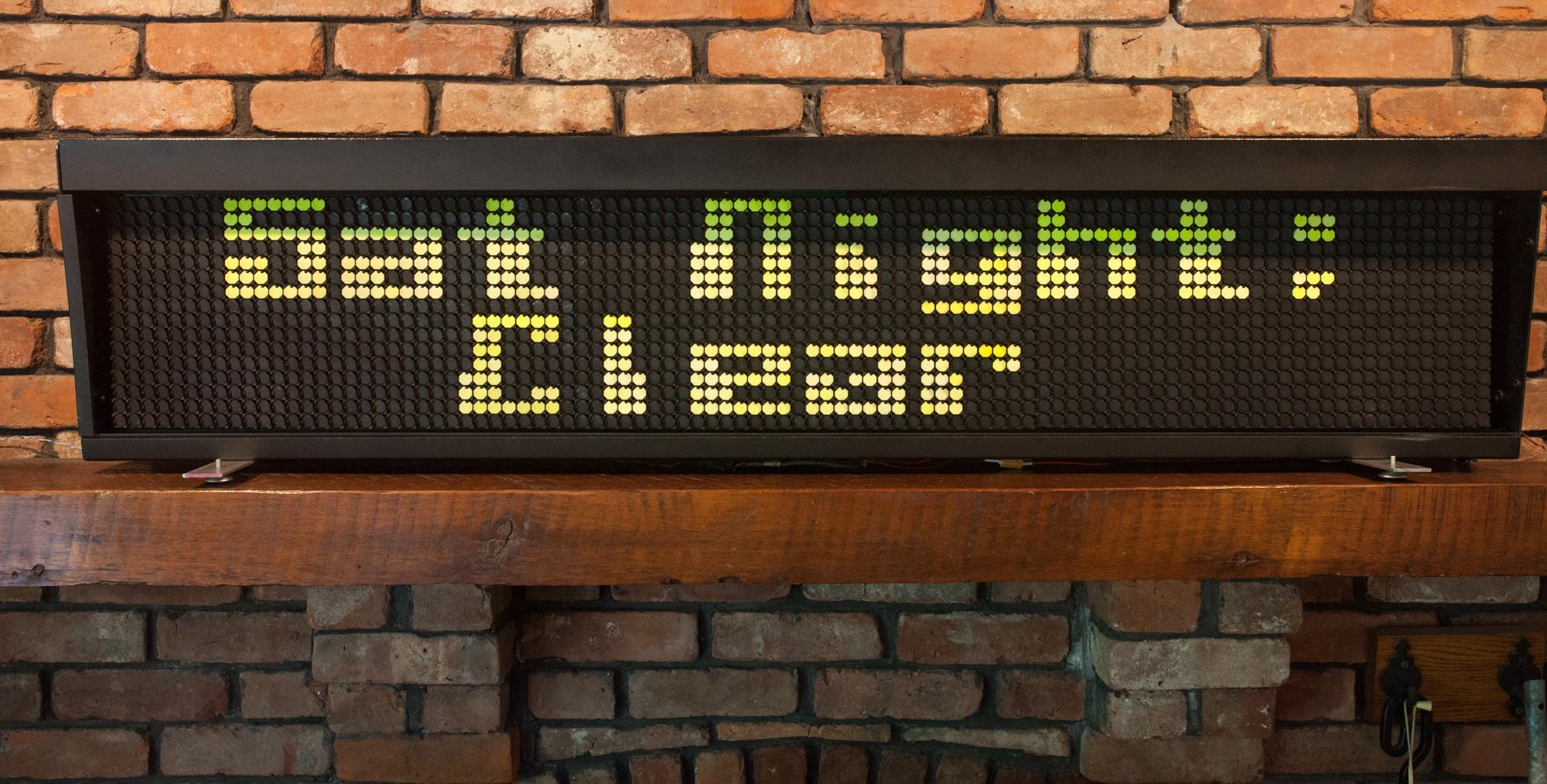 Flip-dot displays at Maker Faire