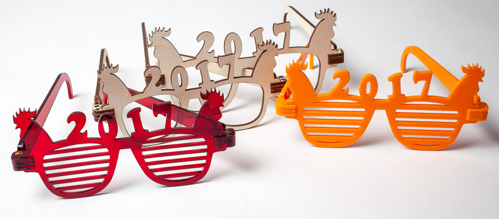 """2017 New Year Laser Cut """"Rooster"""" Sunglasses"""